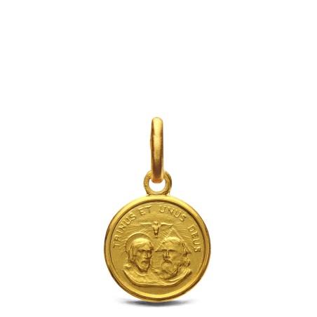 Trójca święta. Malutki Medalik złoty 10mm, 1,0 g