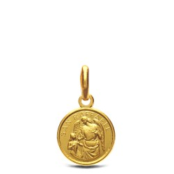 Archanioł Rafał- malutki medalik złoty 10 mm, 1,1g