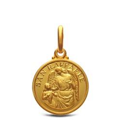 Medalik złoty - Archanioł Rafał 14 mm, 2.35 g