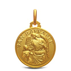 Archanioł Rafał- medalik złoty, 18 mm, 3,3 g