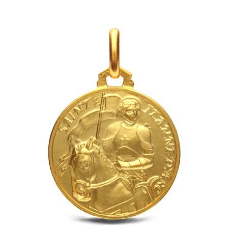 Medalik złoty -Św Joanny d'Arc- 18 mm, 4,2 g