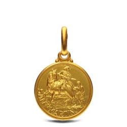 Święty Marcin- medalik złoty 14mm 2,15g