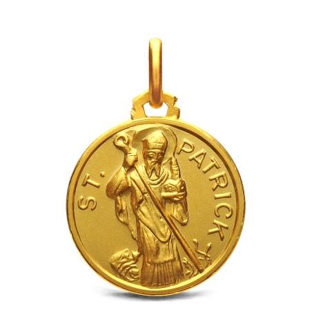 Medalik złoty - Święty Patryk, 18mm, 3,8g