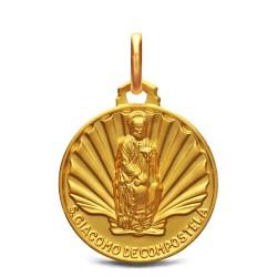 Medalik złoty Św Jakuba, 18 mm, 3,65 g