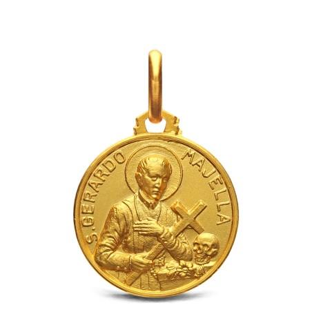 Święty Gerard Majella. Złoty medalik. 16 mm 2,95 g