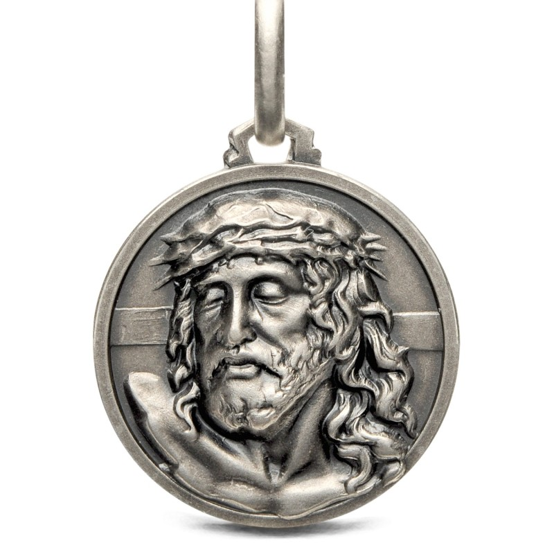Medalik srebrny z Jezusem. Sklep online Gold Urbanowicz - 21mm 5,6g