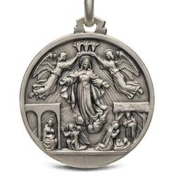 Duży Medalik srebrny- Sceny z życia Maryi, 25mm, 6,6g sklep Gold Urbanowicz