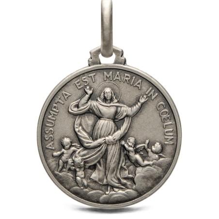 Medalik srebrny Wniebowzięcie Maryi,  21mm, 4,6g