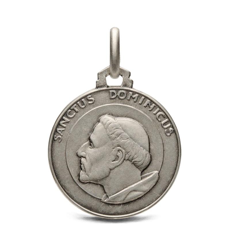 Medalik srebrny św Dominika, 18mm, 3g