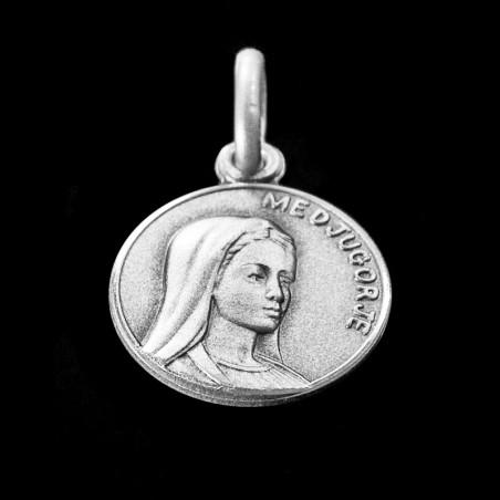 Matka Boża z Medjugorie. medalik srebrny, 12 mm, 1,3 g