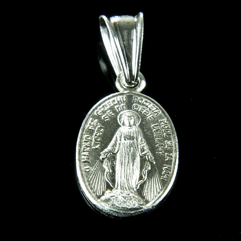 Cudowny Medalik srebrny. Szkaplerz. 1 g Cudowny Medalik zrobiony ze srebra Gold Urbanowicz