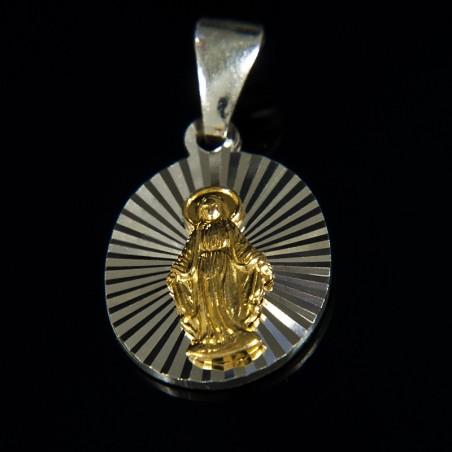 Cudowny medalik. Pozłacany. medalik srebrny, 2,2 g
