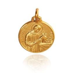 Święty Ludwik. Złoty medalik. 16 mm, 2,9 g Gold Urbanowicz