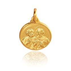 Święty Piotr i Paweł 2,2 g , 14mm,   Złoty medalik Gold Urbanowicz