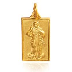 Miłosierdzie Boże. 4.1 g Złoty medalik męski Gold Urbanowicz