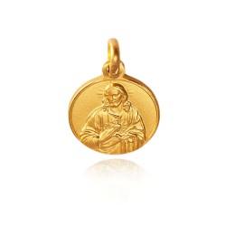 Najświętsze Serce Jezusa. Medalik złoty. średnica 14 mm. Gold Urbanowicz