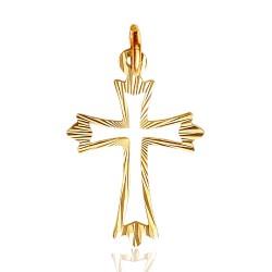 Złoty krzyżyk. Oryginalny wzór. Gold Urbanowicz 0,6 g