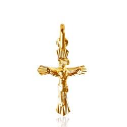Lśniący złoty krzyżyk, wykonany ze złota 14-karatowego. GoldUrbanowicz.