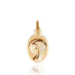 Złoty medalik. Matka Boska Fatimska. Pamiątka Chrztu czy Pierwszej Komunii Św. Gold Urbanowicz ok 0,7 g