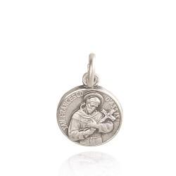 Święty Franciszek z Asyżu. 1,4 g 12mm, Medalik srebrny oksydowany. Gold Urbanowicz