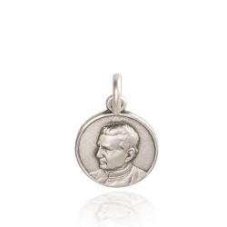 Święty Jan Bosko. Patron młodzieży, uczniów studentów. Medalik srebrny. 12 mm. 1,3 g Gold Urbanowicz