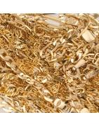 Złote łańcuszki. Łańcuszek ze złota. Złoty łańcuszek